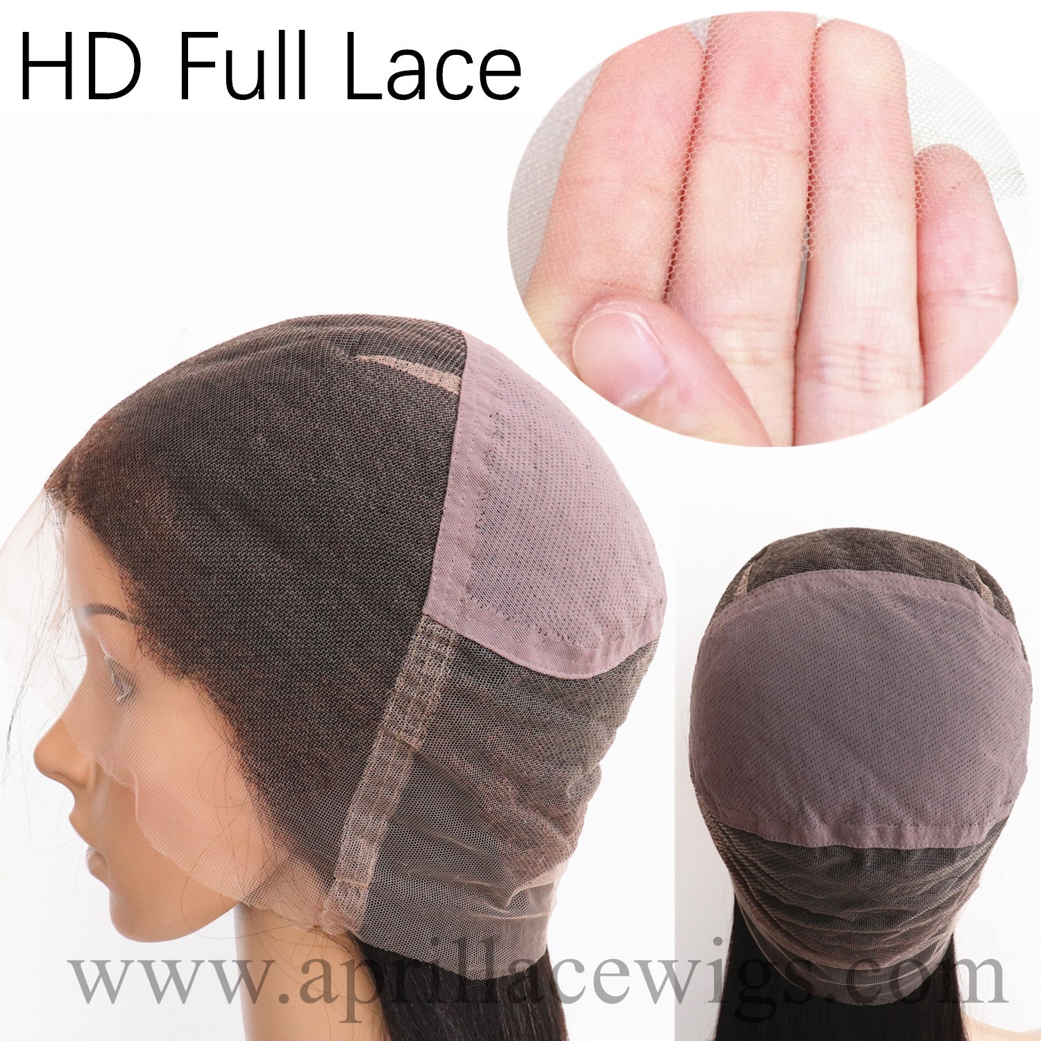 HD thin lace full lace wig cap