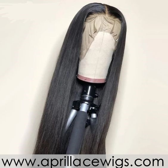 Virgin human hair natural color glueless 370 lace wig BW2101