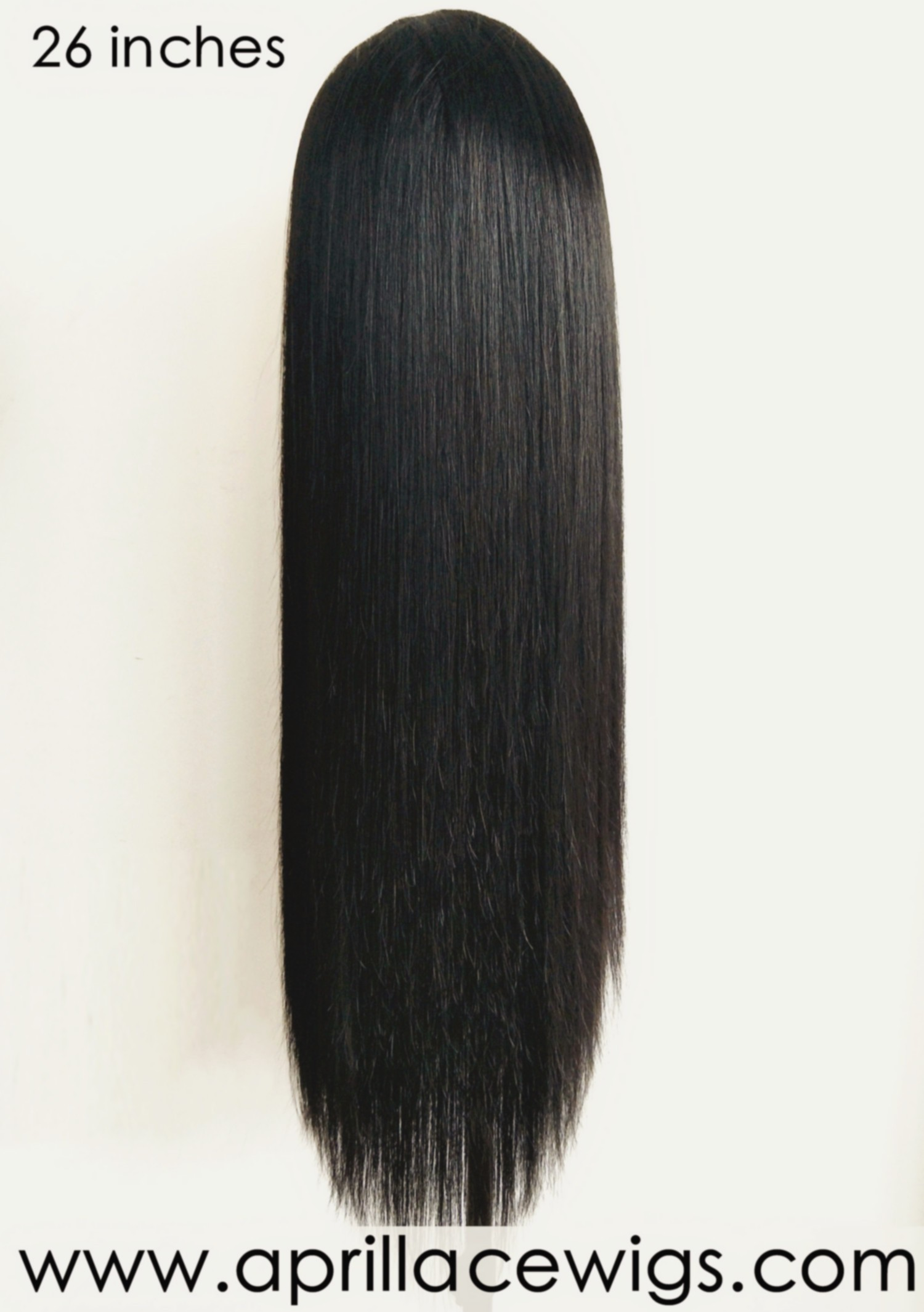Virgin human hair natural color glueless 370 lace wig