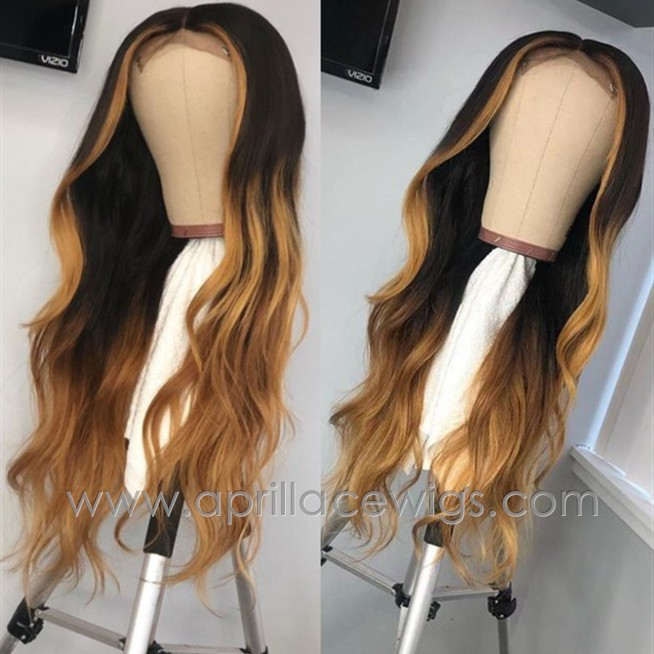 9A virgin hair customized color glueless 13x6 lace front wig preplucked hairline