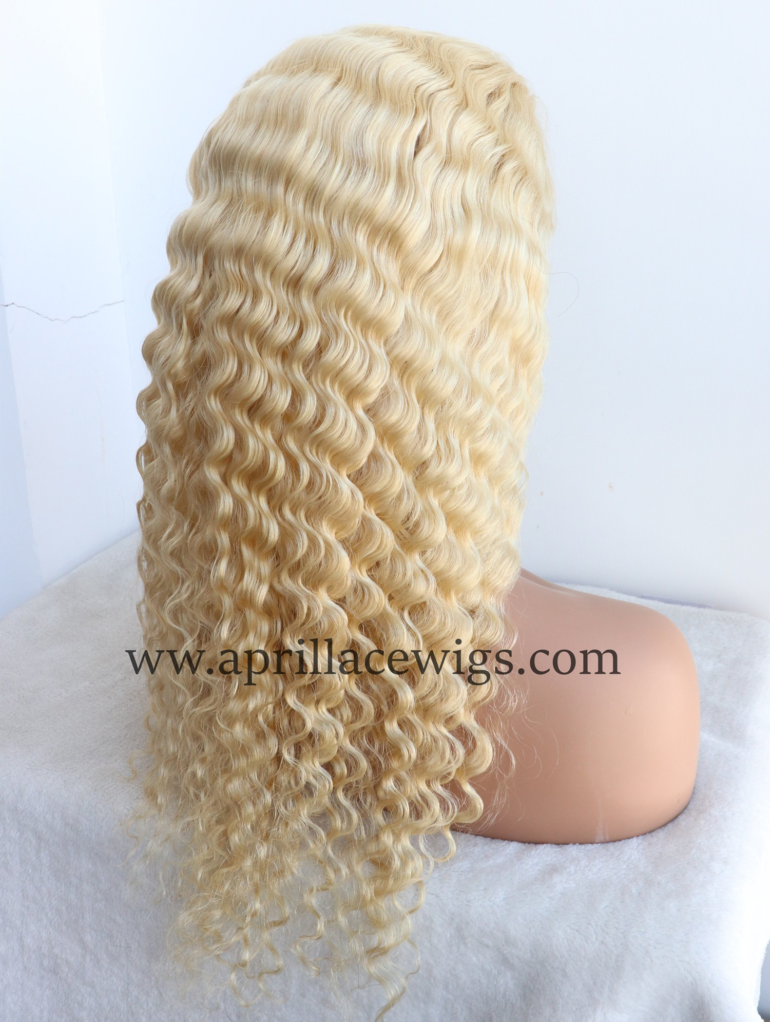 blonde full lace wig deep wave summer hairstyle