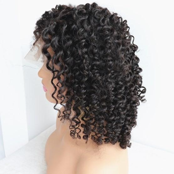 14 inches virgin human hair curly silk top 360 wig