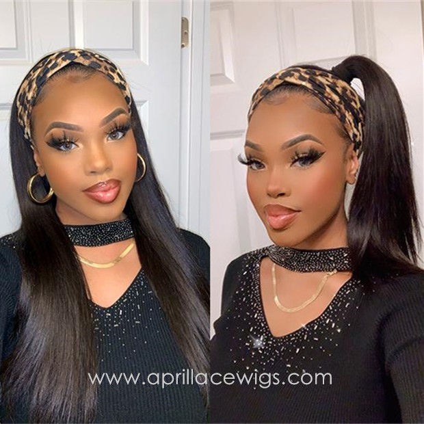 Virgin human hair headband wig
