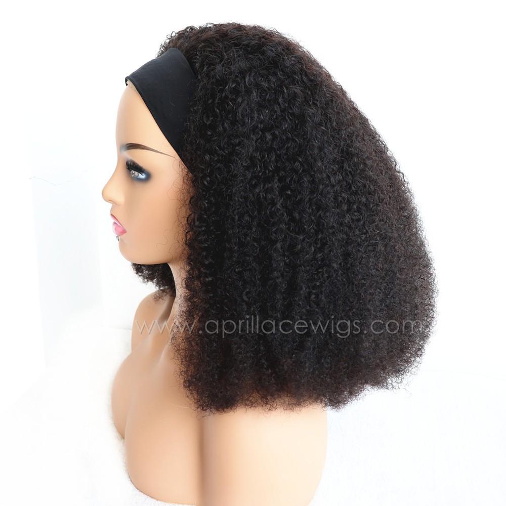 Headband Wigs 3c curl Brazilian Virgin Hair Wigs For Black Women