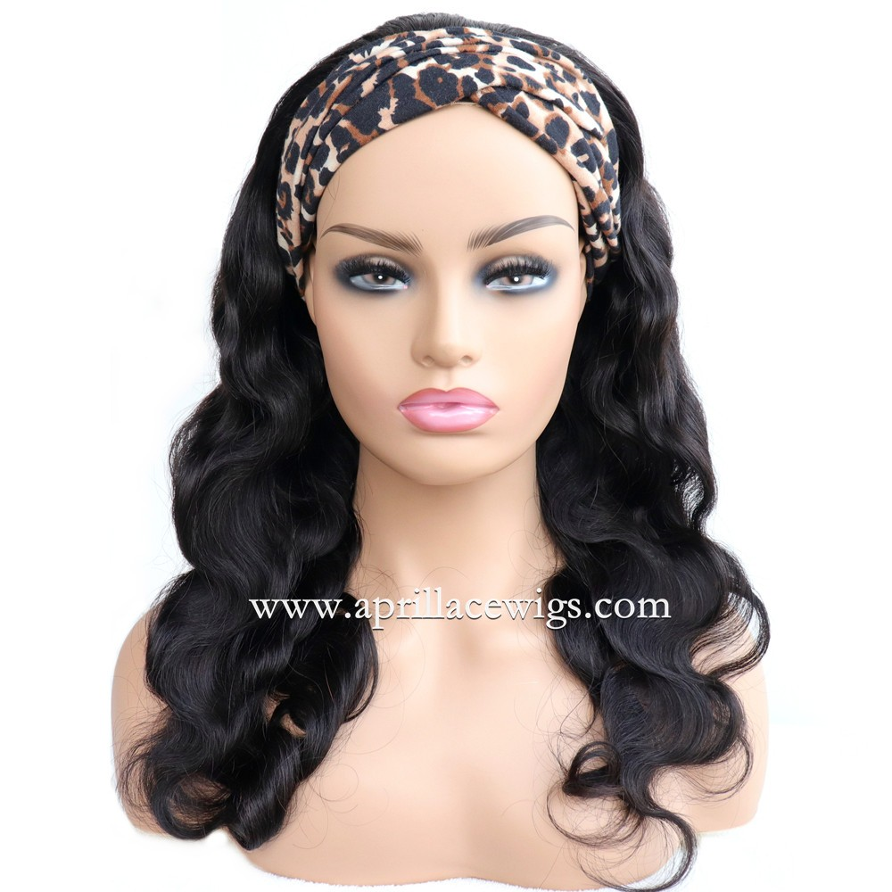 Headband Wigs body wave Brazilian Virgin Hair