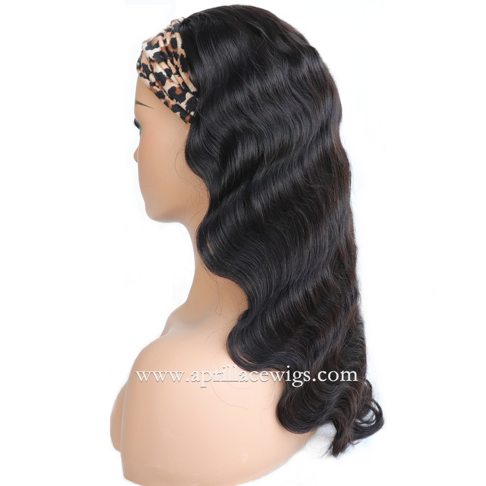 Headband Wigs Body Wave Brazilian Virgin Hair Wig