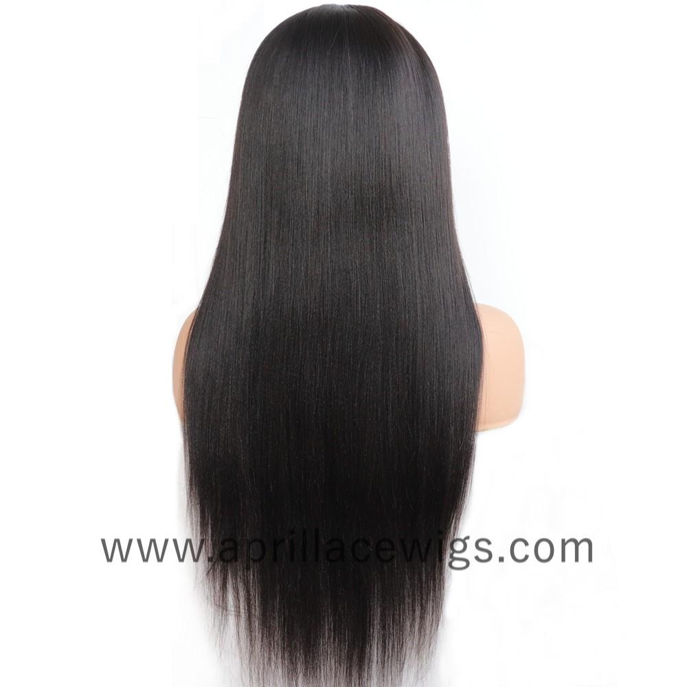 Headband Wigs Light Yaki Chinese Virgin Hair Wigs For Black Women
