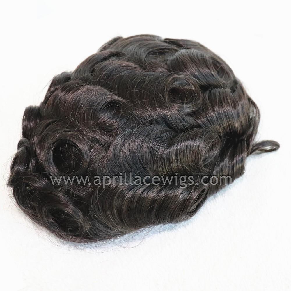 Full Ultra Thin Skin Base Hair Toupee System for Men