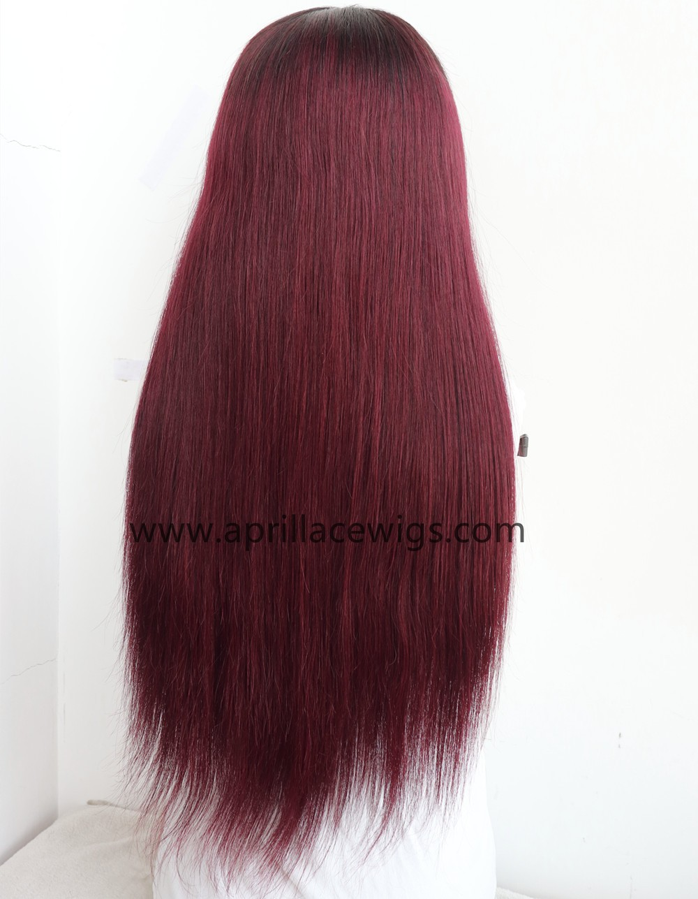 Malaysian virgin human hair color 1b/99J Glueless 13x6 Lace Front wig