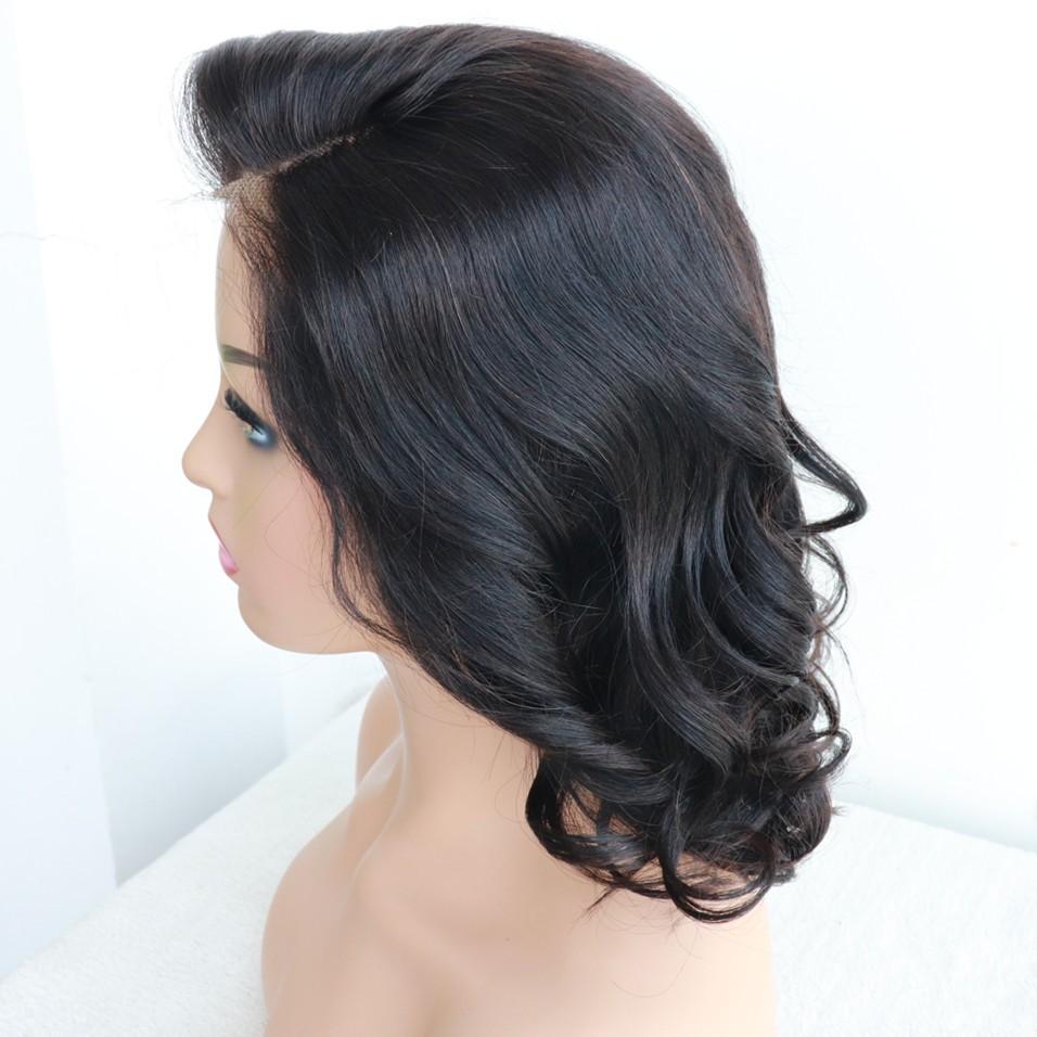 Virgin Human Hair Natural Color Gorge Wave glueless 360 wig