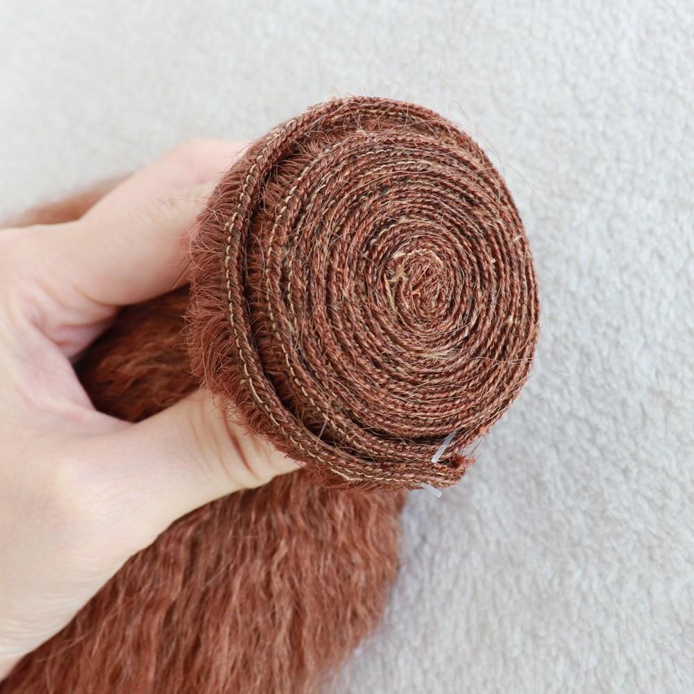 100% virgin human hair made color 33 italian yaki bundle