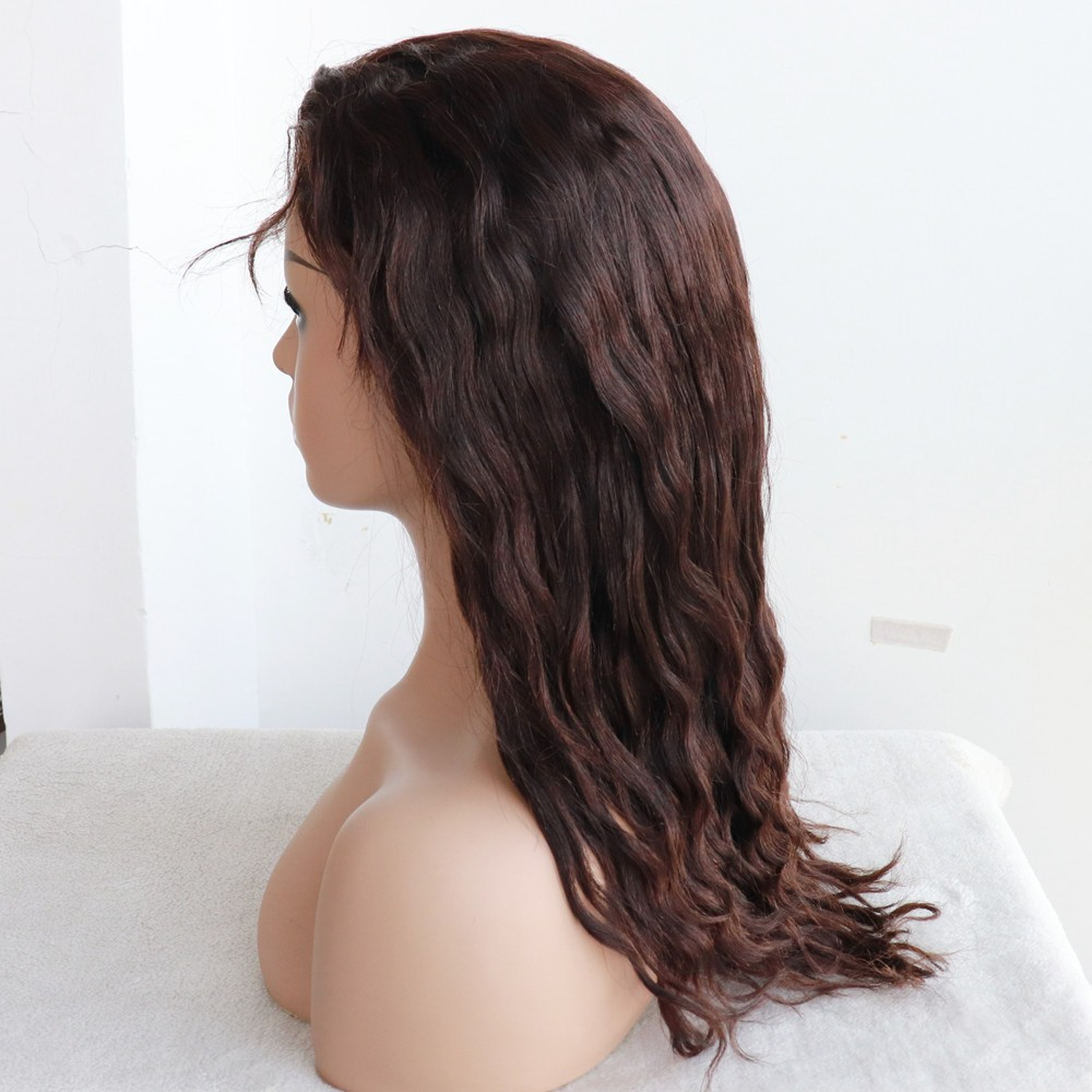 20 in natural color wave 4x4 silk top glueless full lace wig