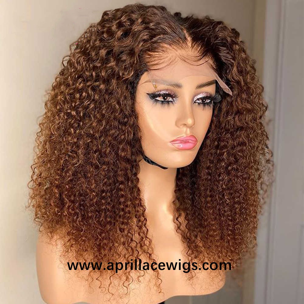 Ombre brown 5x5 HD lace closure wig high density