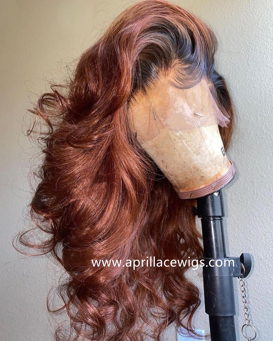 Virgin hair Loose Wave Ombre brown glueless 360 wig preplucked hairline BW3333