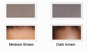 Medium brown and Dark brown lace color
