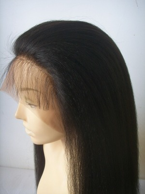 Natural hairline Kinky straight lace wigs