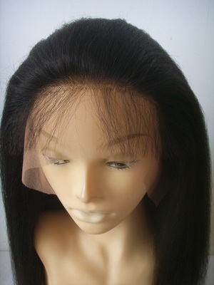 Baby hair kinky straight wig