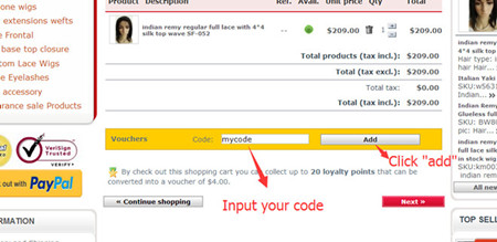 how to use coupon code